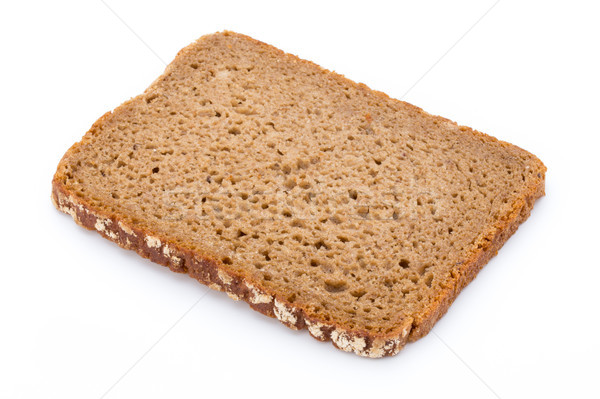 Slices of rye bread isolated on white background. Stock photo © gitusik