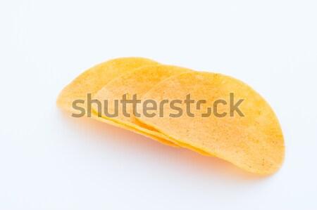 Burgonyaszirom öko étel ebéd gyors citromsárga Stock fotó © gitusik