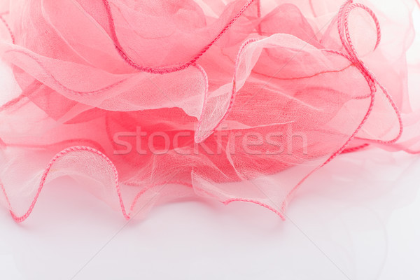 Rosa seda bufanda aislado blanco belleza Foto stock © gitusik