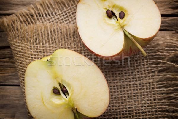 Mela legno alimentare frutta estate gruppo Foto d'archivio © gitusik