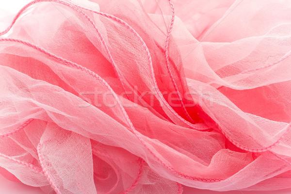 Roze zijde sjaal geïsoleerd witte schoonheid Stockfoto © gitusik