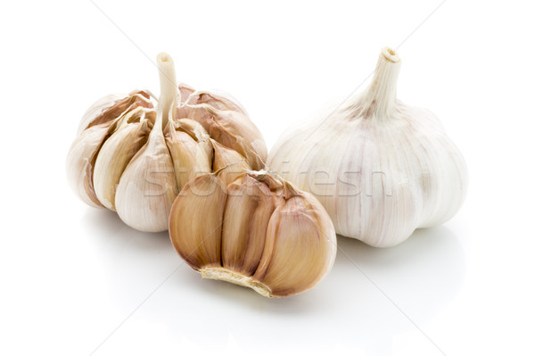 Garlic isolated on the white background. Stock photo © gitusik