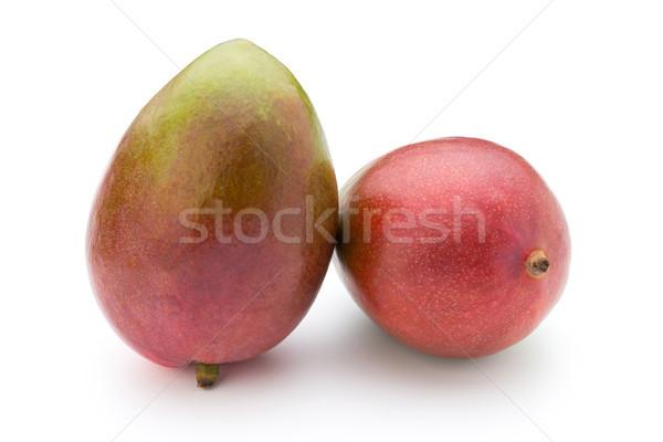 Manga fruto isolado branco fundo amarelo Foto stock © gitusik