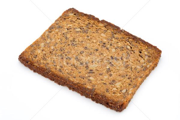 Slices of rye bread isolated on white background. Stock photo © gitusik