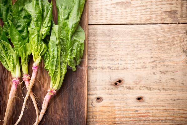 Espinacas raíces hoja planta hortalizas Foto stock © gitusik