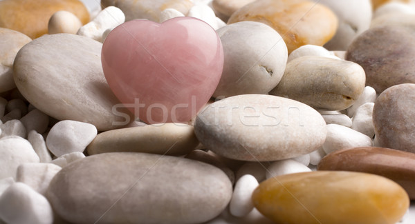 Rose quartz heart. Stock photo © gitusik