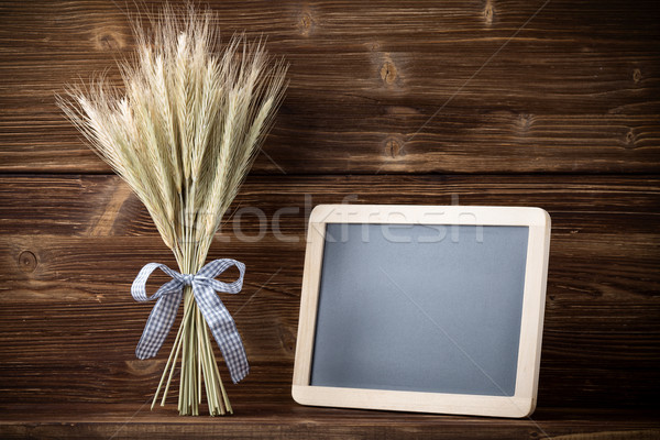 ライ麦 青 リボン メニュー ボード ストックフォト © gitusik
