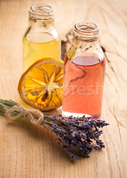 Aromaterapia corpo Óleo estância termal natureza Foto stock © gitusik