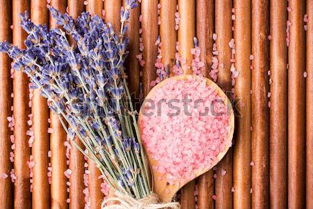 Zeezout hout lichaam blad gezondheid Stockfoto © gitusik