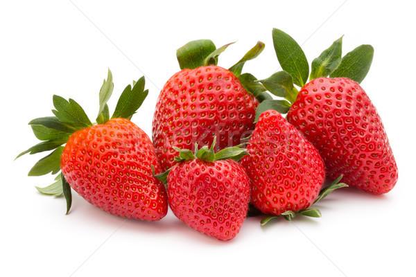 Truskawki odizolowany biały świeże Berry żywności Zdjęcia stock © gitusik