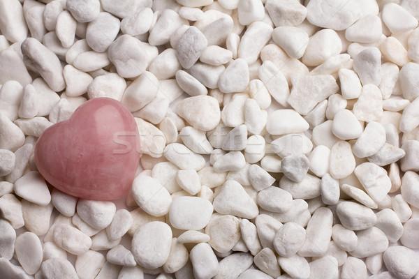 Rose quartz heart. Stock photo © gitusik