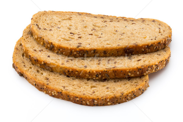 Rye bread slice isolated on white background. Stock photo © gitusik