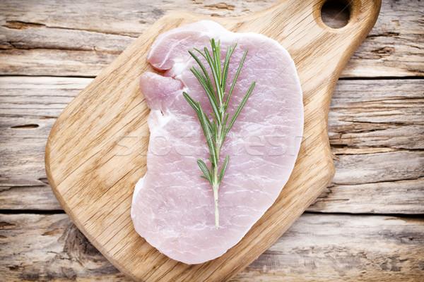 Varkensvlees kotelet vlees hout Stockfoto © gitusik