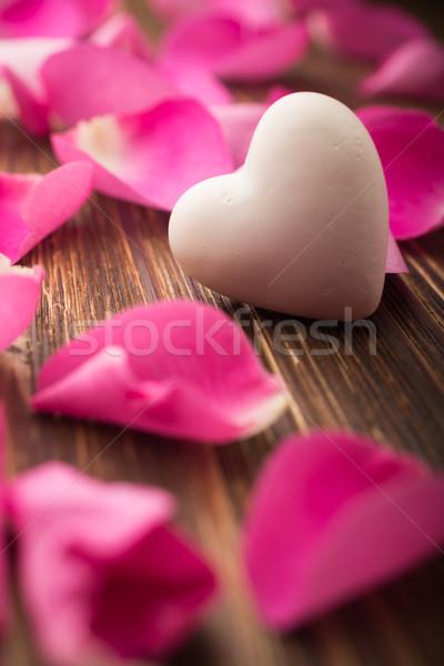 Stock photo: Rose petals.