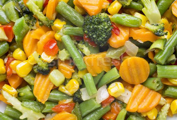 Warzyw biały tablicy żywności jedzenie Zdjęcia stock © gitusik