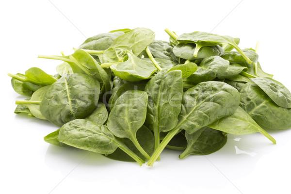 Szpinak odizolowany biały liści jedzenie warzyw Zdjęcia stock © gitusik