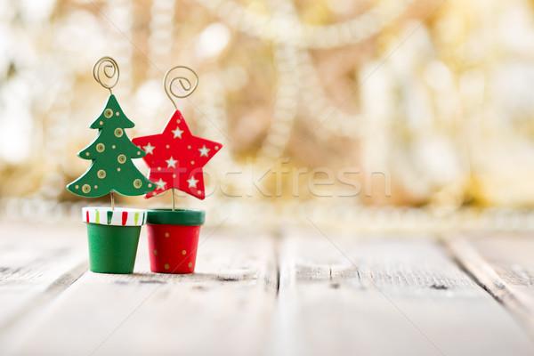 Foto stock: Natal · fundos · decoração · fogo · casa