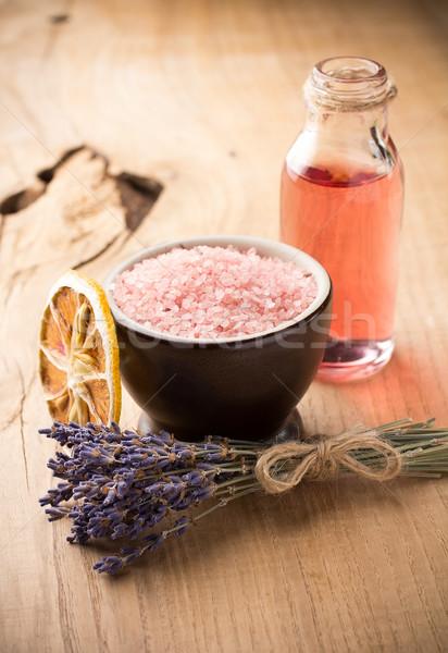Aromaterapi vücut yağ spa doğa Stok fotoğraf © gitusik