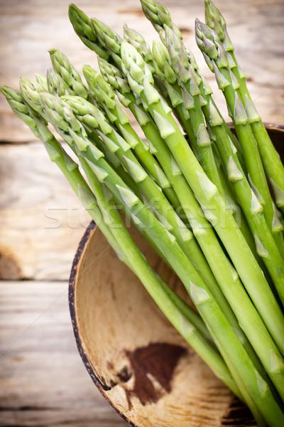 Asparagi legno alimentare verdura mangiare bianco Foto d'archivio © gitusik