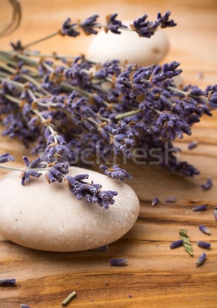 Lavanda estância termal pedras secas flores folha Foto stock © gitusik