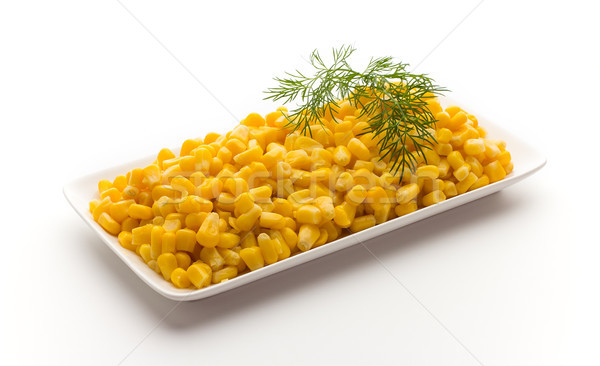 Stack of sweetcorn kernels. Stock photo © gitusik