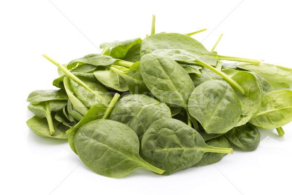 Espinacas aislado blanco hoja comer vegetales Foto stock © gitusik
