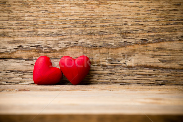 赤 中心 木製 壁 デザイン 石 ストックフォト © gitusik