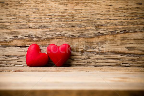 Rojo corazón pared diseno piedra Foto stock © gitusik