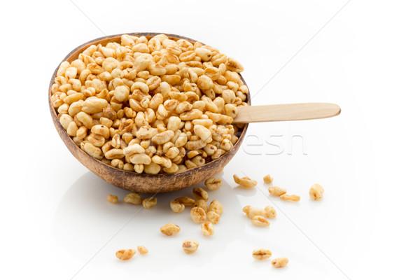 Cornflakes kom geïsoleerd witte studio fotografie Stockfoto © gitusik