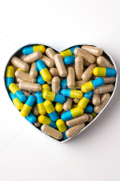 Herbal drug capsules. Stock photo © gitusik