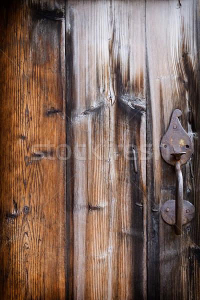 Starych deska ściany piętrze drewna Zdjęcia stock © gitusik
