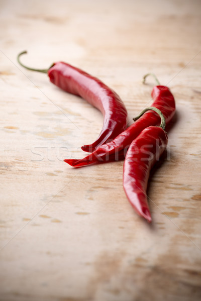 Piment bois nature fond rouge couleur Photo stock © gitusik