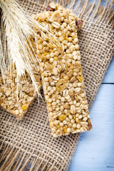 ミューズリー バー 穀物 木製 食品 小麦 ストックフォト © gitusik