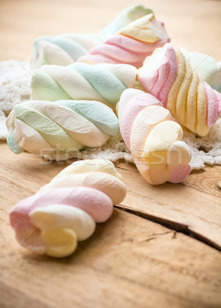 Guimauve bonbons bois groupe manger horizons Photo stock © gitusik