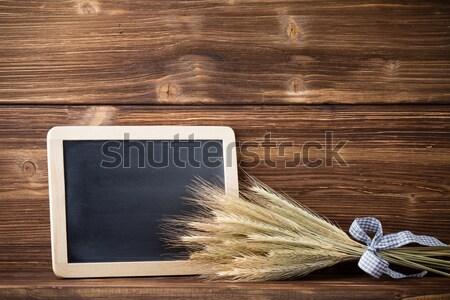 Pszenicy menu pokładzie żywności Zdjęcia stock © gitusik