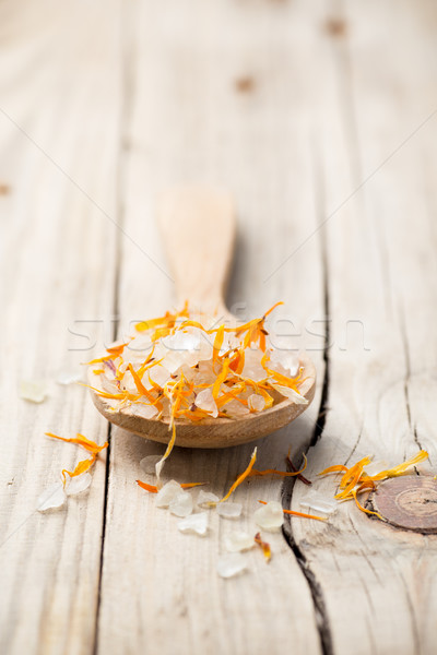 Homeopáticos estância termal medicina flor secar pétalas Foto stock © gitusik