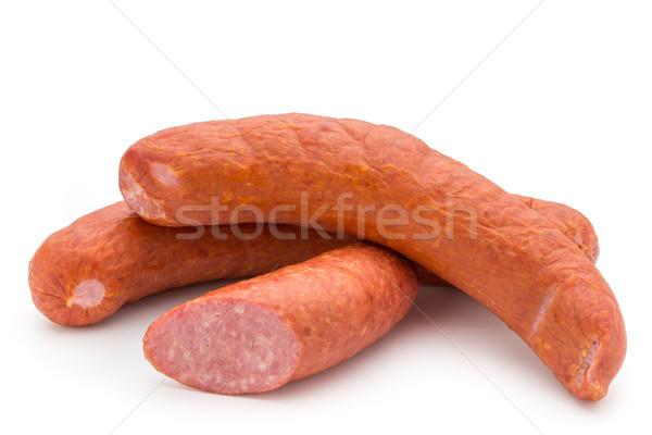 Ahumado salchicha blanco grasa almuerzo producto Foto stock © gitusik