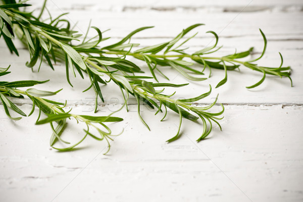 Rosmarijn witte houten voedsel zomer groene Stockfoto © gitusik
