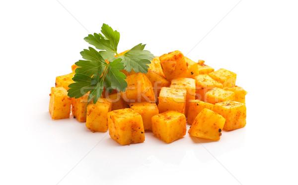 チーズ 孤立した 白 食品 背景 ストックフォト © gitusik