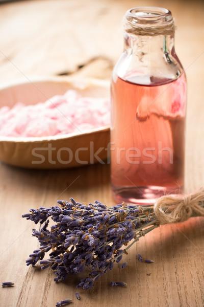 Foto stock: Aromaterapia · corpo · Óleo · natureza · folha · saúde