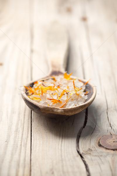 Homeopatik spa tıp çiçek kuru yaprakları Stok fotoğraf © gitusik