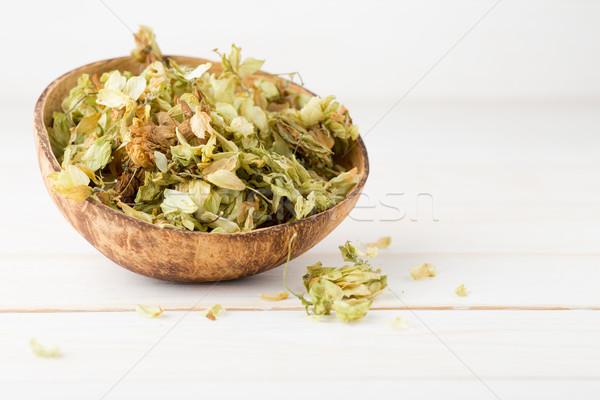 Homeopatik tıp kurutulmuş bitkiler bitkisel çaylar Stok fotoğraf © gitusik