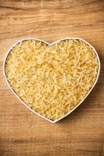 Rice, hearts box. Stock photo © gitusik