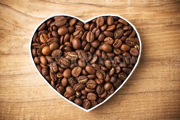 Granos de café cuadro superficie alimentos café Foto stock © gitusik