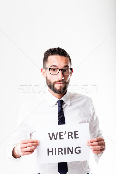 we're hiring what are you waiting for Stock photo © Giulio_Fornasar