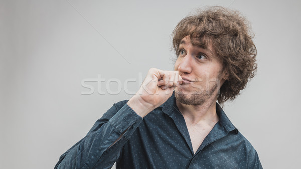 man having a good idea funny expression Stock photo © Giulio_Fornasar