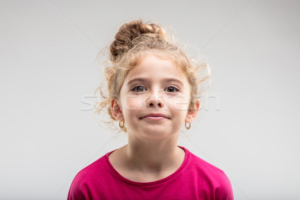 Portrait of young self-assured preteen girl Stock photo © Giulio_Fornasar