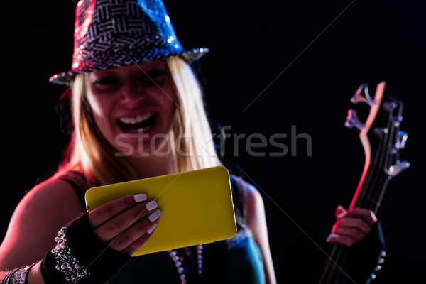 Vrouw live muziek digitale Stockfoto © Giulio_Fornasar
