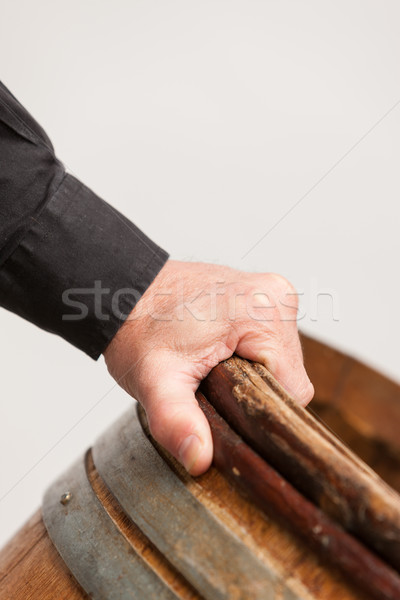 Male hand holding barrel Stock photo © Giulio_Fornasar