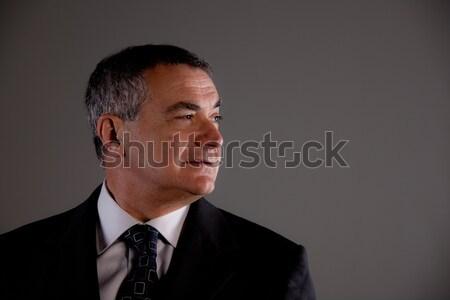 Wywiadowca starszy garnitur tie patrząc strona Zdjęcia stock © Giulio_Fornasar